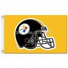 Pittsburgh Steelers Flag Helmet World Series Football Team 3ft X 5ft Yellow
