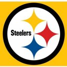 Pittsburgh Steelers Flag 3ft x 5ft Polyester Banner 90x150cm white sleeve