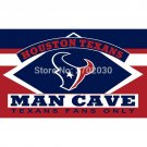 Houston Texans Fans Only Flag MAN CAVE Banner Flag  3x5 Ft