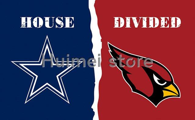 3x5ft Arizona Cardinals VS Dallas Cowboys flag house divided flag 150x90c