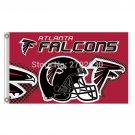 Atlanta Falcons Helmet Red Banner Flag  3ft x 5ft Polyester