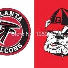 Atlanta Falcons vs Georgia Bulldogs house divided Flag 3ft x 5ft