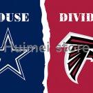 3x5ft Dallas Cowboys flag VS Atlanta Falcons house divided flag 150x90cm