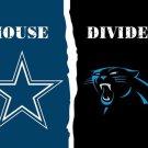 Dallas Cowboys vs Carolina Panthers House Divided Rivalry Flag 90x150cm