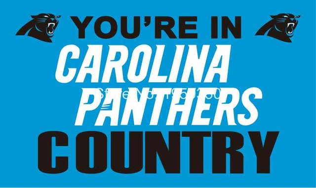 Carolina Panthers country flag 3ftx5ft Banner 100D Polyester Flag Brass Grommets