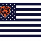 Chicago Bears US flag with star and stripe 3x5 FT Banner