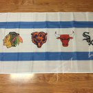 Chicago Blackhawks Chicago Bears Chicago Bulls Chicago White Sox Flag 3ft x 5ft
