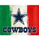 3x5ft Green white red Stripes Dallas Cowboys flag new style oil painting style flag