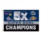 5X SUPER BOWL CHAMPIONS Flag Dallas Cowboys Flag World Series 2016