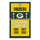 Yellow Design Green Bay Packers Flag Banners Football Team Flags 3x5 Ft