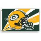Green Bay Packers Flag 3x5 FT Banner 100D Polyester NFL flag 185