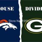 Denver Broncos vs Green Bay Packers House Divided Rivalry Flag 90x150cm