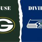 Green Bay Packers vs Philadelphia Eagles House Divided Rivalry Flag 3*5FT