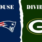 Green Bay Packers Fans new England Patriots  house divided Flags 3x5 Ft