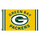 Yellow Design Green Bay Packers Flag Football Team Flags 3x5 Ft