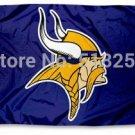 Minnesota Vikings Flag 3x5 FT Banner 100D Polyester NFL flag 188