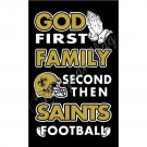 Newest custom New Orleans Saints flag God First Family flag  150X90CM