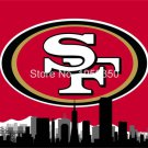 San Francisco 49ers skyline Large Outdoor 3 x 5ft Banner Flag 90x150cm