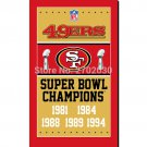 San Francisco 49ers Champions Ship Flag 150x90cm Super Bowl Champions