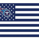 Tennessee Titans US flag with star and stripe 3x5 FT Banner