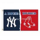 New York Yankees Flag Vs Boston Red Sox Football house divided Flag 3x5 FT