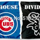 Chicago White Sox and Chicago Cubs House Divided Flag 3x5 FT
