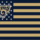 Los Angeles Rams large logo Flag with Star and Stripe 3X5 ft