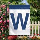 Chicago Cubs Letter W Flag MLB Decorative Garden Flag  3x5 FT