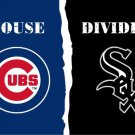 Chicago Cub vs Chicago White Sox House Divided Rivalry Flag 90x150cm metal grommets