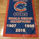 3X5FT 2016 world series champions Chicago Cubs flag with 2 metal Grommets