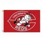 Cincinnati Reds Flag Baseball Super Fans Team Banners World Series  Flags 3x5 ft
