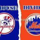 New York Yankees vs New York Mets house divided Flag 3ft x 5ft Polyester