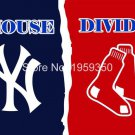 New York Yankees vs red rox Mets house divided Flag 3ft x 5ft Polyester