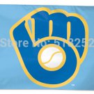 Milwaukee Brewers Flag 3x5 FT 150X90CM Banner 100D Polyester flag 1022