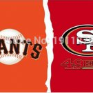 francisco 49ers and san francisco Giants house divided flag 3x5 FT