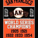 San Francisco Giants World Series Champions Flag 3ft x 5ft Polyester