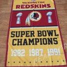 Washington Redskins Flag 3ft x 5ft Polyester NFL Washington Redskins Banner