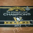 3X5FT  2017 5X Pittsburgh Penguin Stanley Cup champion Flag
