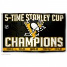 Pittsburgh Penguins 2017 Stanley Cup Champions Flag 150 X 90 CM