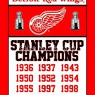 Detroit Red Wings Stanley Cup Champions Flag 3ft x 5ft Polyester