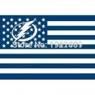 High-quality polyester 100D  Tampa Bay Lightning star American flag 3x5 ft