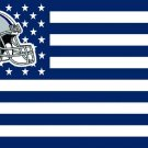 Dallas Cowboys helmet with US stars and stripes Flag 3FTx5FT