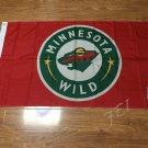 3ftx5ft Minnesota Wild flag 90x150cm Banner 100D Polyester Flag metal Grommets