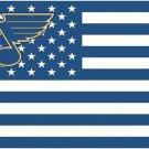 3x5ft St. Louis Blues NHL Stars and Stripes US senior hockey team logo