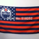 Edmonton Oilers Flag with stripe and star Banner 3x5 FT 150X90CM