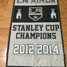 Los Angeles Kings flag 3ftx5ft Banner 100D Polyester Flag metal Grommets