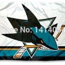 San Jose Sharks column Flag 150X90CM NHL 3X5FT Banner 100D Polyester flag grommets 009,
