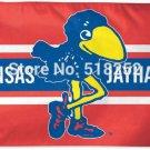 Kansas KU Jayhawks Throwback Vintage Flag 3x5 FT NCAA 150X90CM
