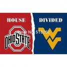 Ohio State Buckeyes VS West Virginia Mountaine Flag 3x5 FT 150X90CM Banner