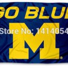 University of Michigan Wolverines Go Blue Flag  3X5FT Banner